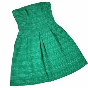 Banana Republic Strapless Retro 50s Dress Green 8